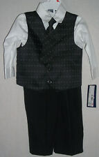 Toddler Boys 4-Piece Suit Shirt Tie Vest and Pants 24ms Jonathan Strong