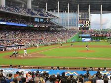 Marlins vs New York Mets 6/30/18 (Miami) Row 1 - Behind Mets Dugout