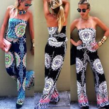Women Sexy Off-shoulder Sleeveless Rompers Jumpsuit Playsuit Long Trousers Pants