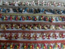 TRIPLE TASSEL FRINGE TRIM (PER 5 YARDS) PICK FROM 6 DIFFERENT COLORS 2 INCH LONG