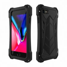 R-JUST Shockproof Rugged Armor Aluminum Metal Bumper Case For iPhone X 8 7 Plus