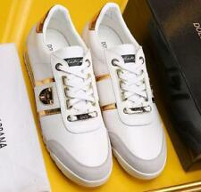 NEW Men's Fashion Shoes lace-up Leather Sneakers Casual White Shoes Sports