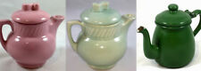 TEAPOT VARIATIONS: Single Serve USA McCoy Salada Tea Pot / Green Enamel Tea Pot