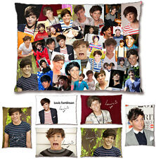 Louis Tomlinson [One Direction] Photo Collage Pre-Printed Signature Pillow Case