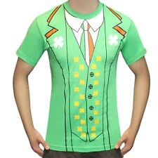 Mens Irish Printed Short Sleeve T Shirt Adults Stag Do Party ST Patricks Day Top