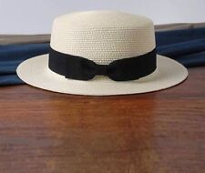 Women's Beach Flat Top Straw Hats Boater Bow Summer Panama With Variety Of Color