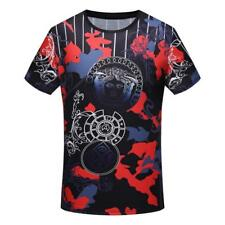 Fashion New Men's Tee Shirt R-Neck Short Sleeve Casual Cotton Print T-Shirt