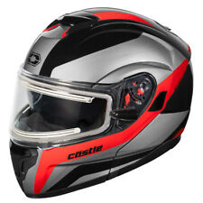Castle X Atom SV Tarmac Modular Snowmobile Helmet - Electric Shield - 36-233XX