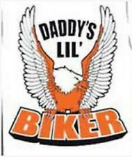 daddy biker motorcycle me kid t-shirt infant toddler new baby shower gift US siz