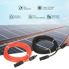 20ft &10ft Solar Panel Extension Cable 10 AWG PV Wire MC4 M/F Connector V3J9