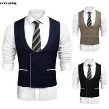 Men Casual Double-Breasted Waistcoat Business Suit Vest EE6