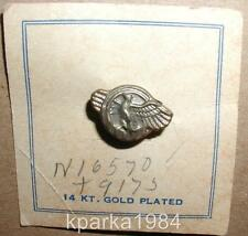 WW2 ERA RUPTURED DUCK HONORABLE DISCHARGE LAPEL PIN - NOS - 14kt Gold Plated