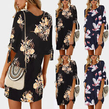 Boho Women Holiday Sundress Ladies Summer Beach Evening Party Floral Short Dress