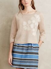 ANTHROPOLOGIE Troubadour Wool Snowblossom Floral Pullover Sweater NwT S