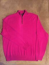 NWT $185 Polo Golf Ralph Lauren 1/4 Zip Sweater Merino Wool Pink Sz L & XL