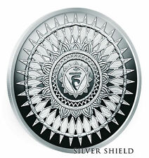 "2018 Silver Shield THROAT CHAKRA Silver Proof - #5 in the ""Seven Chakras"" series"