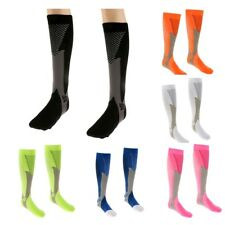 Mens Womens Compression Socks Running Fitness Sports Calf Support Stockings