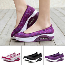 Women Shape Ups Walking Fitness Toning Shoes Platform Wedge Sneakers Sports Soft