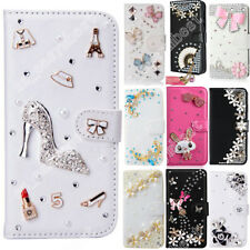 Cute Case For LG Leather Wallet Cover Flip Phone Cases Luxury Diamond Shell