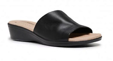 "HUSH PUPPIES FLAT LADIES SHOES WOMENS CASUAL SLIDES NEW""COCO"" BLACK"