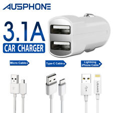 Dual USB RAPID Car SPEED Charger 3.1A For IPhone X 8+ 7 Samsung S9 S7 S8 NOTE 8