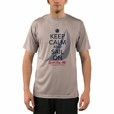 Keep Calm and Sail On Oyster Bay Men's UPF 50+ Short Sleeve T-shirt