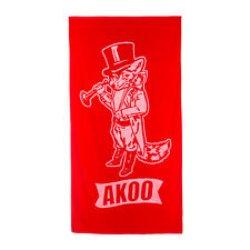Akoo King Beach Towel in Poppy Red 78C-3800