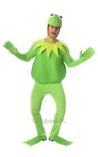 Mens Adult Kermit The Frog Fancy Dress Costume Outfit Muppets Official Tv XL