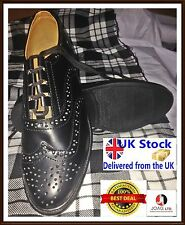 Ghillie Brogues PU Leather Ghillie Brogues Scottish Kilt Shoes UK Sizes 5 To 11/
