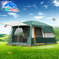 5-8 Persons Double Layer Outdoor 2 Rooms Camping Tent Family Waterproof Tent