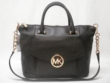 $328 NWT MICHAEL KORS FULTON LARGE SATCHEL PEBBLED LEATHER BAG 38F4GFTS3L BLACK