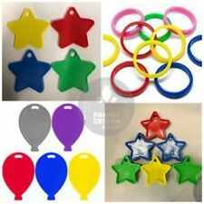 Helium Balloon Shaped Plastic Weights Star Heart Bangles baloon weight 4,8,12,20