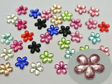 500 Shiny Flatback Acrylic Faceted Flower Rhinestone Gems 8mm Color For Choice