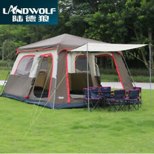 Ultralarge 6 10 12 Double Layer Outdoor 2Room Family Windproof Camping Tents