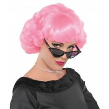 Frenchie Wig Adult Womens 50s Pink Ladies Costume Halloween Fancy Dress