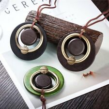 Vintage Handmade Circle Pendant Necklace Long Sweater Chain Women Jewelry Gift