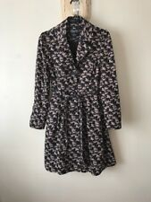Summer Jacket Coat 8 Pin Up Circle Flare Fitted Horse Cotton Black Smart Trench