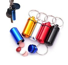 Medicine Box Case Holder Container Pill Bottle Key Ring Keychain Waterproof