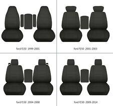 Ford f150 1999-2014 cotton car seat covers solid charcoal, select  seat style
