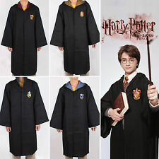 Harry Potter Youth Adult Cloak Cape Costume Gryffindor/Slytherin Cosplay Robes