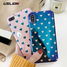 Blu-ray Laser Gradient Case For iPhone X 8 Love Heart Phone Cases For iPhone 6 6