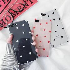 High Quality Silicone Phone cases for iphone 7 8 Plus case Love Heart Transparen