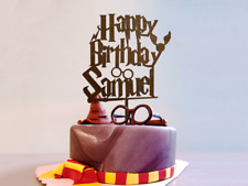 Harry Potter Cake Topper Name Cake Topper Harry Potter Personalized Cake Topper