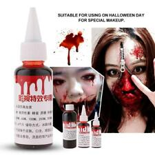 30/50/100ml Halloween Fake Blood Vampire Zombie Makeup Accessory Cosplay Party