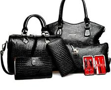 Women's Bag Leather Handbags Fashion Shoulder Bags Purse Sequined Lock Polyester