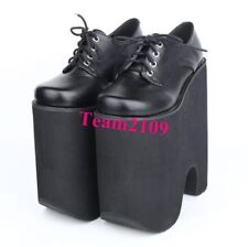 Womens Lolita Super High Heel Creeper Platform Lace Up Mary Jane Punk Shoes New