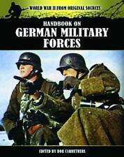 Handbook on German Military Forces by Bob Carruthers (Paperback) Book