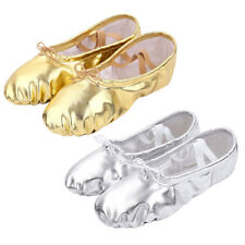 Adult Womens PU Leather Ballet Dance Shoes Slippers Pointe Dance Gymnastics