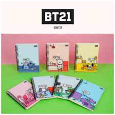 NEW BTS BT21 Official Merchandise - Stationery Schooling Spring NOTE PP Cover