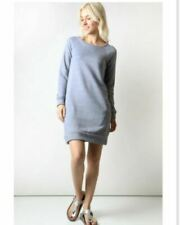 French Terry Sweatshirt Dress New S M L Front Pockets Heather Gray